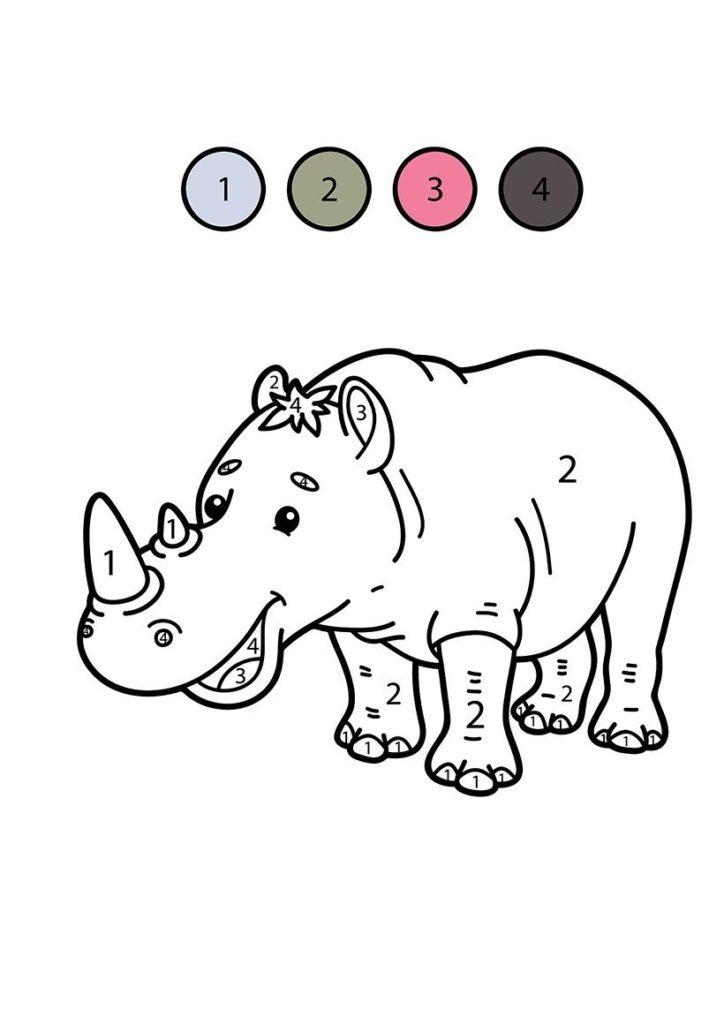 rinoceronte para colorear