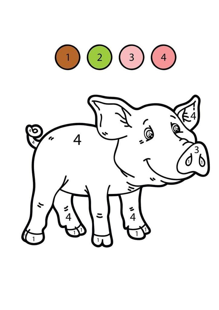 cerdo para colorear