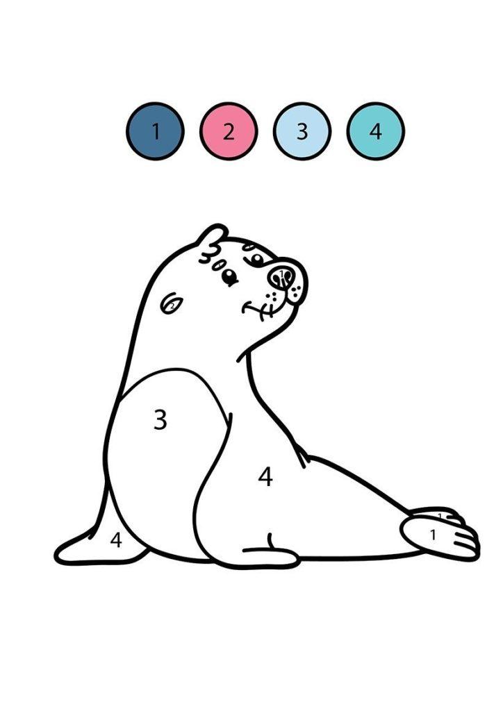 foca para colorear