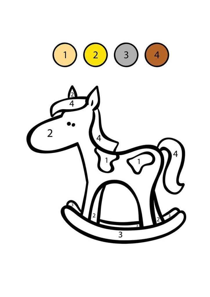 caballo balancín para colorear