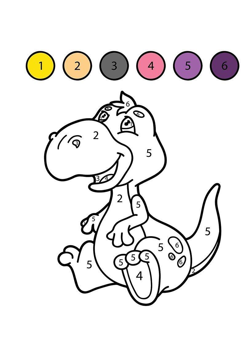 dinosaurio para colorear