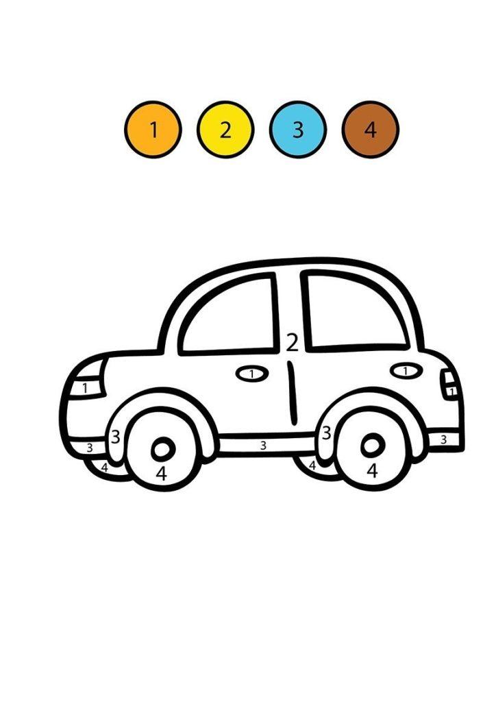 coche para colorear