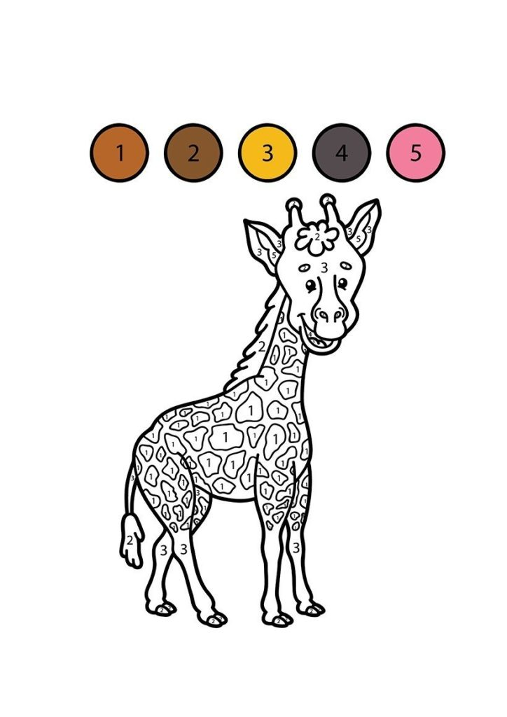 jirafa para colorear