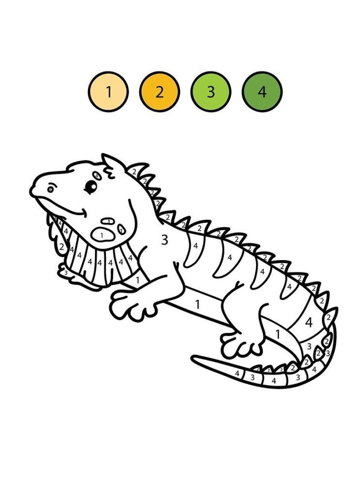 lagartija para colorear