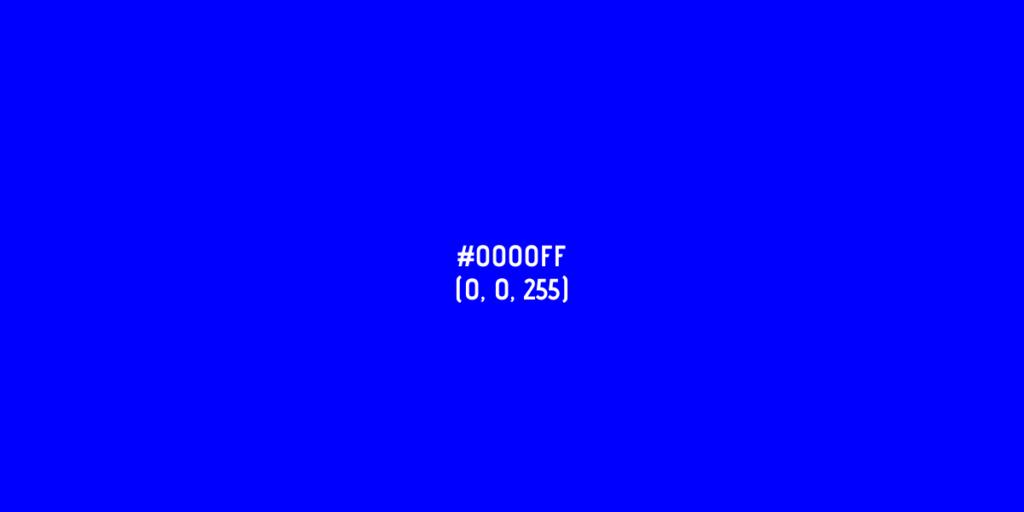 La psicología del color azul