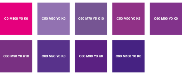 paleta CMYK color magenta