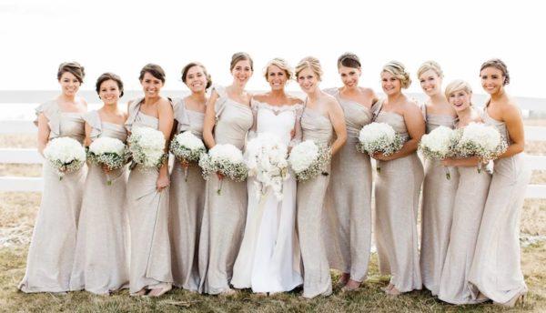 Vestido de novia con champán