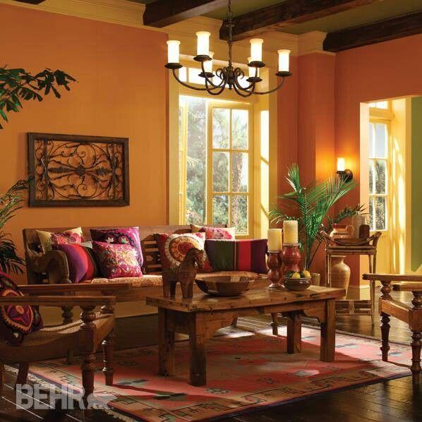 Salón color ambar