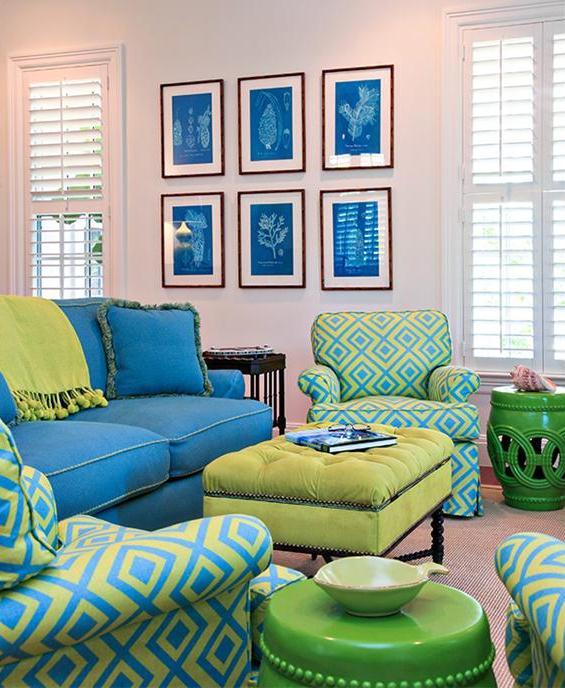 Ejemplo de uso de colores análogos en la decoración.